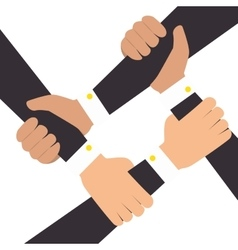 hands human teamwork isolated icon vector image