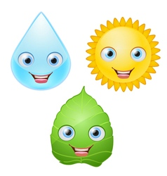icons smiling vector image