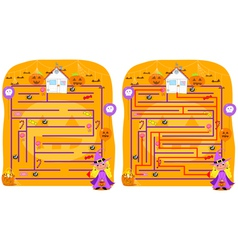 Solved Halloween maze game vector image