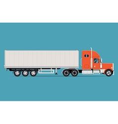 Trailer Truck Icon vector image vector image