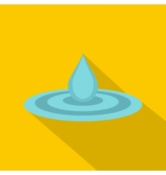 Water drop and spill icon flat style vector image