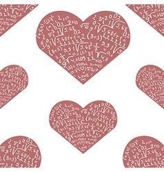 Seamless pattern with mathematics formula on pink vector image