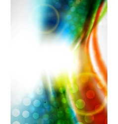 Smooth wave colorful background vector image vector image