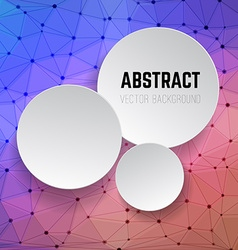 abstract background with circles background vector image
