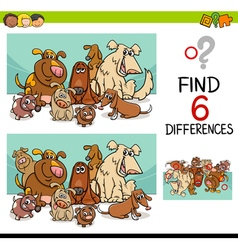 Activity of differences with dogs vector