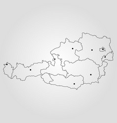 austria - map vector image