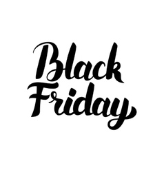Black Friday Handwritten Lettering vector image