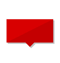 Blank red tag vector