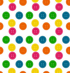 Button Seamless Pattern Background vector image