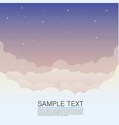 clouds design over sky background night sky cover vector image