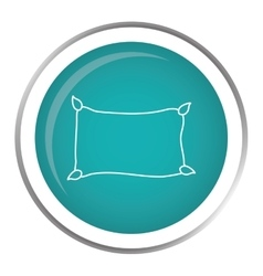 Comfortable pillow icon vector