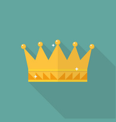 Crown icon in flat style vector