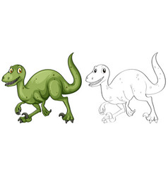 doodle animal for t-rex vector image