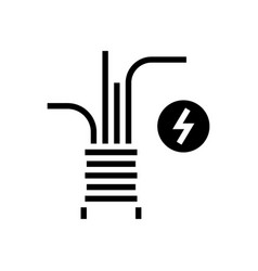 electricity cable glyph icon vector image