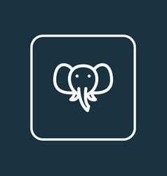 Elephant icon line symbol premium quality vector