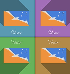 Flags Tierra del Fuego Province Set of colors flat vector image