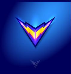 Flash lightning bolt logo electric energy icon vector