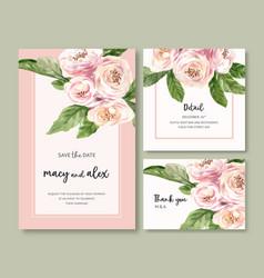 Flower garden wedding card design with climbing vector