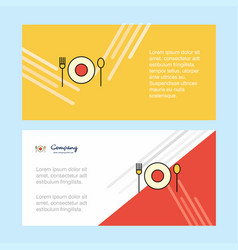 food abstract corporate business banner template vector image
