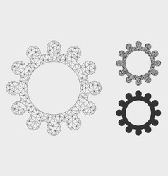 Gear mesh network model and triangle mosaic vector