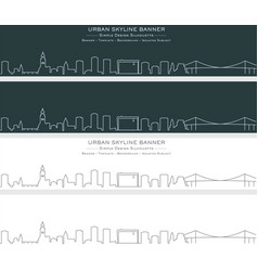 gothenburg single line skyline banner vector image
