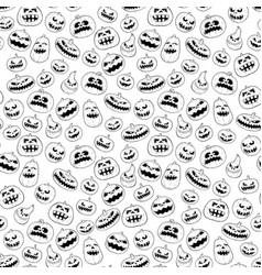 halloween pumpkin seamless tileable black and vector image