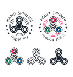 hand spinner emblems vector image