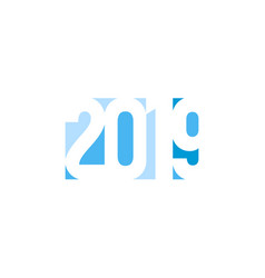 happy new year 2019 ice numbers banner template vector image