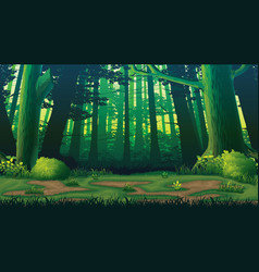 Horizontal seamless background with forest vector