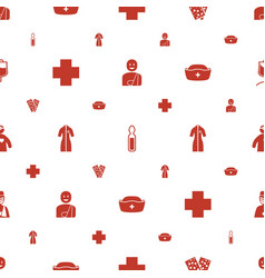 Hospital icons pattern seamless white background vector