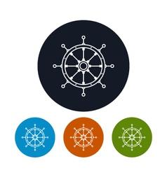Icon ships wheel vector