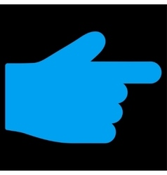 Index Finger flat blue color icon vector