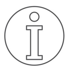 info thin line icon help and inform information vector image