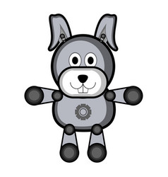 Isolated stuffed rabbit toy icon vector
