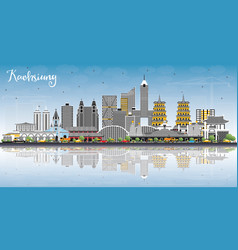 Kaohsiung taiwan city skyline with gray buildings vector