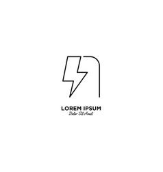 Letter n flash logo design vector