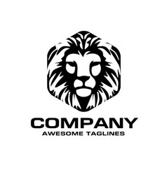 Lion head logo vector