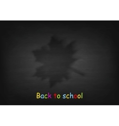 Maple leaf on black chalkboard vector image