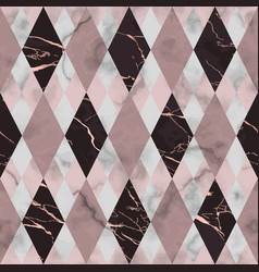 Marble pink and maroon luxury geometric seamless vector