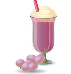 Milkshake design vector