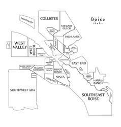 modern city map - boise idaho city of the usa vector image