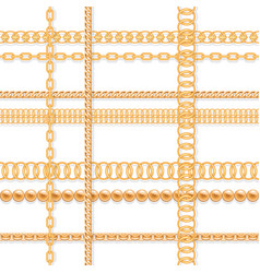 Old chains luxury seamless pattern for fashion vector
