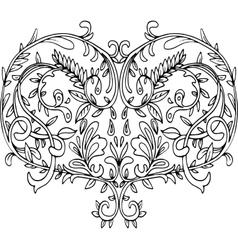 Openwork patterned heart vector