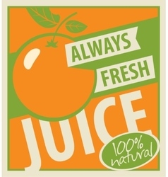 Oranges and fresh juice vector