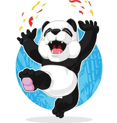 Panda Jumping in Excitement vector image