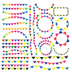 party or festival flag ribbon vector image