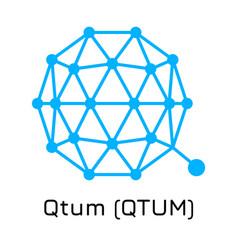 Qtum qtum crypto coin icon vector