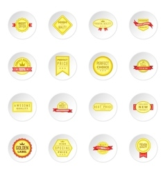 Retail label icons set vector