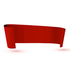 ribbon red banner on white background vector image