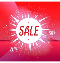 Sale poster with star on red background vector